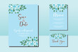 Wedding invitation frame set, floral watercolor hand drawn Magnolia Flower design Invitation Card Template