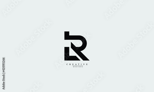 Obraz Alphabet letters Initials Monogram logo LR, RL, L, R - fototapety do salonu