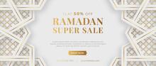 Islamic Arabic Luxury Ramadan Kareem Eid Mubarak Sale Banner