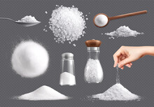 Salt Realistic Icon Set