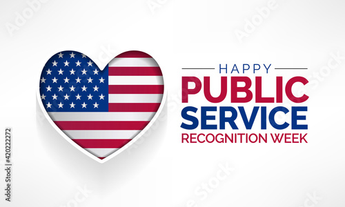 Fotografie, Tablou Public Service Recognition Week is celebrated in the first week of May, to honor the men and women who serve our nation as federal, state, county, local and tribal government employees