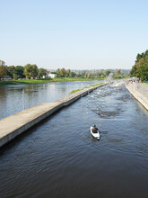 Professional Wild Water Canal With Slalom For Kayaking Or Canoeing In Prague, Czech Republic
