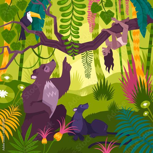 Fototapeta premium Mowgli Landscape Background