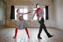 Mime Artists, Strangulation With A Scarf, Comedy