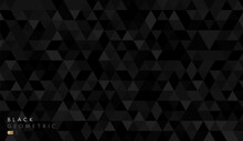 Abstract Black & Grey Geometric Hexagon Shape Background Pattern. Vector For Presentation Design. Suit For Business, Corporate, Institution, Party, Festive, Seminar, And Talks. Vector Illustration