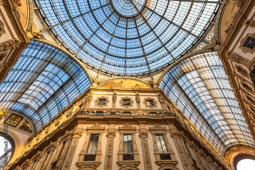 Architecture in Milan fashion Gallery, Italy Fototapeta