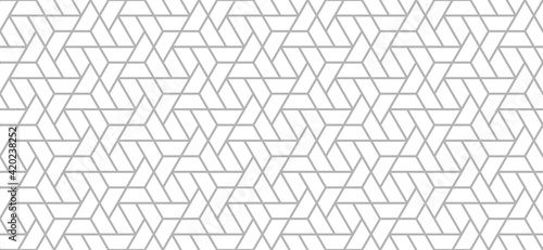 Seamless Geometric Pattern. Vector gray background. Design element.