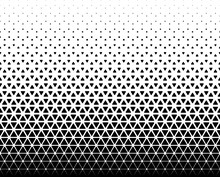 Seamless Halftone Vector Background.Filled With Black Figures With Rounded Corners .Middle Fade Out.