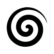 Set Of Spiral And Swirls Logo Design Elements, Icons, Symbols, And Signs.