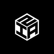IAZ Letter Logo Design With Black Background In Illustrator, Cube Logo, Vector Logo, Modern Alphabet Font Overlap Style. Calligraphy Designs For Logo, Poster, Invitation, Etc.