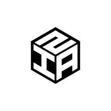IAZ Letter Logo Design With White Background In Illustrator, Cube Logo, Vector Logo, Modern Alphabet Font Overlap Style. Calligraphy Designs For Logo, Poster, Invitation, Etc.