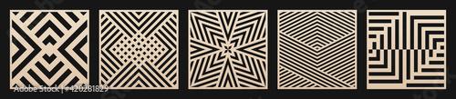 Foto Laser cut patterns set