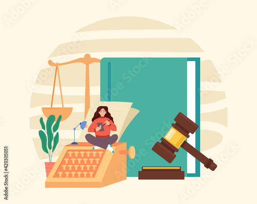 Canvas Print Law book scale document gavel government authority judgment justice concept