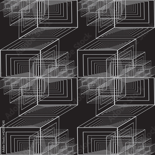 Photo Abstract background. Geometric pattern with cubes