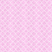 Illustration Pink Quatrefoil Lines Material Pattern Background That Is Seamless