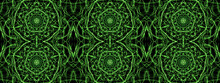 Green Abstract Fractal Pattern. This Is A Digital Abstract Fractal Painting. This Image Will Make An Excellent Wallpaper For Your Computer Or Mobile Device, Or A Background For Your Website Or Videos.