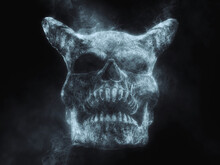 Demon Skull Made Out Of Smoke