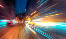 Abstract Image Of Night Traffic Light Trails In The City