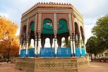 Kiosco Morisco In Arivechi, Sonora, Mexico. Replica Of The Moorish Kiosk Of Santa María La Ribera In Mexico City