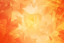 Light Orange Vector Texture With Abstract Poly Forms.