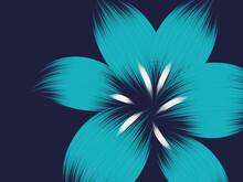 A Trendy Flower Abstract Background Illustration, Brush Stroke