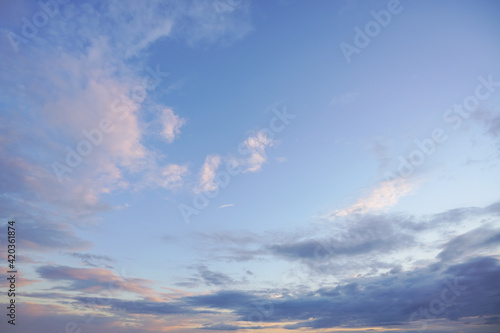 Fotografia Natural background: dramatic sky at sunset