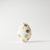 Easter egg on white background. Minimal concept. 3d rendering