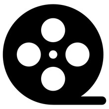 Modern Style Icon Of Film Reel