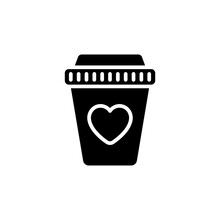 Coffee Love Icon In Vector. Logotype