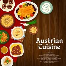 Austrian Cuisine Vector Poster, Meals Of Austria