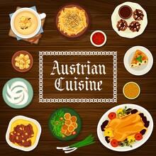 Austrian Cuisine, Food Of Austria Cartoon Poster