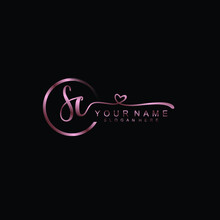 SC Beautiful Initial Handwriting Logo Template