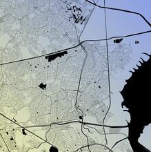 Duque De Caxias, Rio De Janeiro, Brazil (BRA) - Urban Vector City Map With Parks, Rail And Roads, Highways, Minimalist Town Plan Design Poster, City Center, Downtown, Transit Network, Street Blueprint