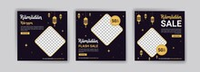 Ramadan Kareem. Ramadan Sale. Arabic Concept. Holiday Shopping. Banners Vector For Social Media Ads, Web Ads, Business Messages, Discount Flyers And Big Sale Banner.