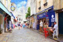 Impressionnisme. Montmartre, La Rue Du Chevalier De La Barre. Paris