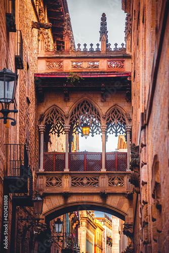 Valokuva Barcelona. Gothic quarter of Barcelona. Catalonia. Spain, 2021