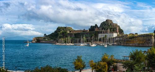 Greece Corfu island old fortress Fototapete