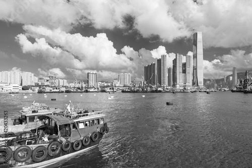 Obraz na płótnie Skyline of Victoria Harbor of Hong Kong city