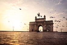 Gateway Of India, Mumbai Maharashtra Monument Landmark Famous Place  Magnificent View Without People Sunset