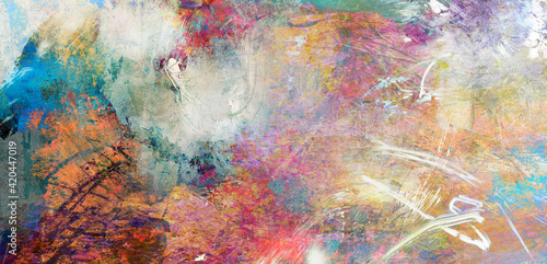 Obraz texturen abstrakt gewischt rakel hintergrund banner - fototapety do salonu
