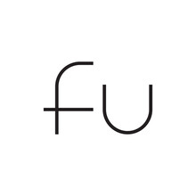Fu Initial Letter Vector Logo Icon