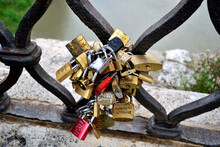 Love Symbol - Locks On The Bridge - Rome, Italy