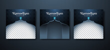 Ramadan Kareem Background For Social Media Post Template With Exclusive Luxury Design. Editable Copy Space Photo Or Image For Discount Tag Or Content Promo Product.