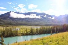 Alberta Canada Panoramic Views Of The Canadian Rockies During