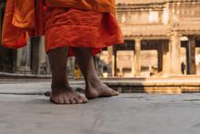 Buddhist Monk Of Angkor Wat Temple