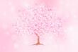 キラキラ輝きの中の桜の木2