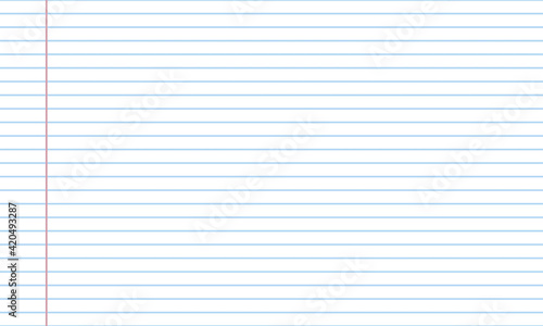 Canvas Blank white worksheet exercise book and back to school vector design