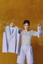 Female Model Posing For Clothing Store