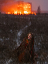 Blurred Fire Woman