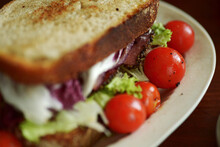 Close Up Home Made Sandwich